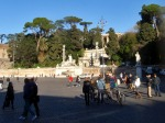 Approaching the gardens from Piazza del Popolo