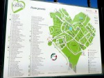 Map of Villa Borghese gardens
